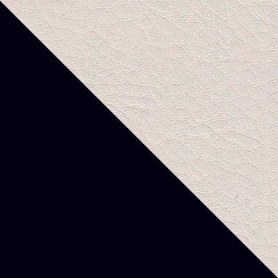 Черный / Белый кожзам