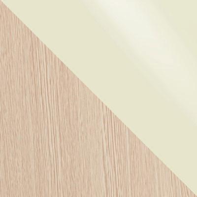 Стекло Молочное / ЛДСП Дуб выбеленный