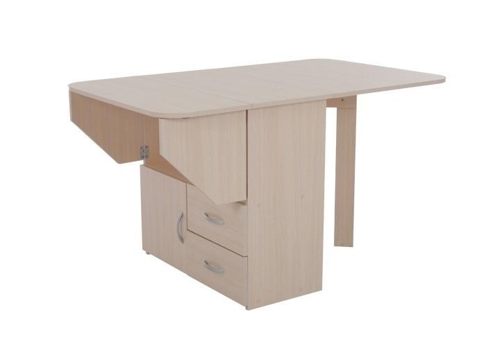 Компактный стол-книжка тумба с ящиками 186-13140