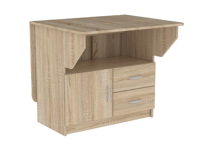 Компактный стол-книжка тумба с ящиками 186-58299