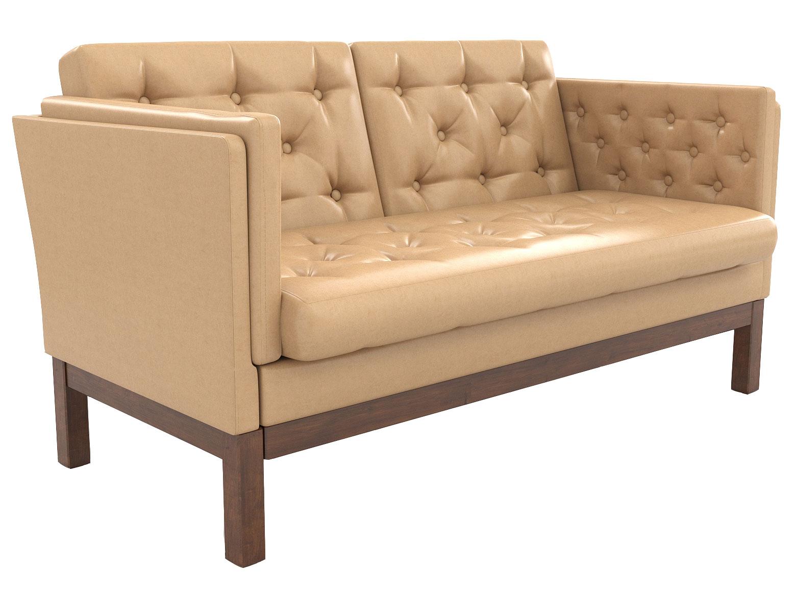 Прямой диван из экокожи 150-112413