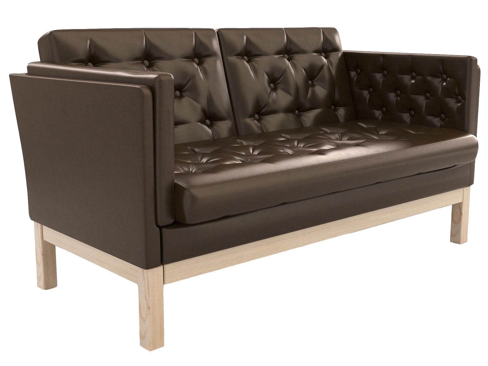 Прямой диван из экокожи 179-112415