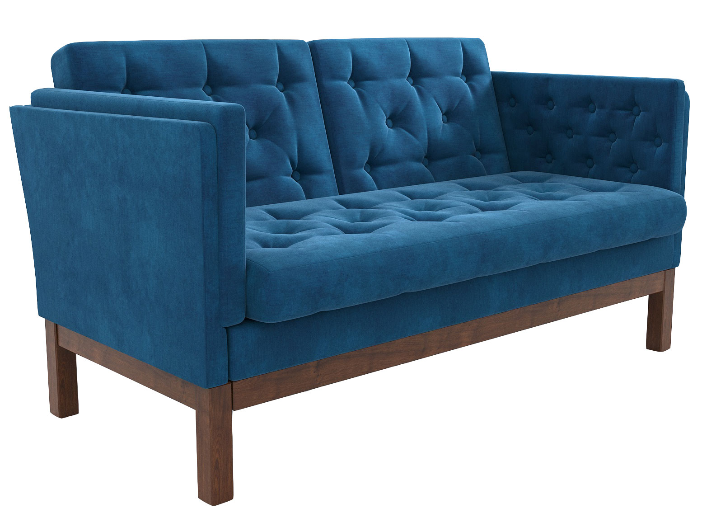 Прямой диван из экокожи 150-112414