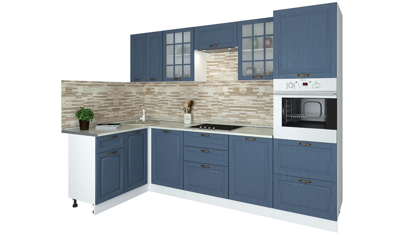 Угловой кухонный гарнитур 150-69081