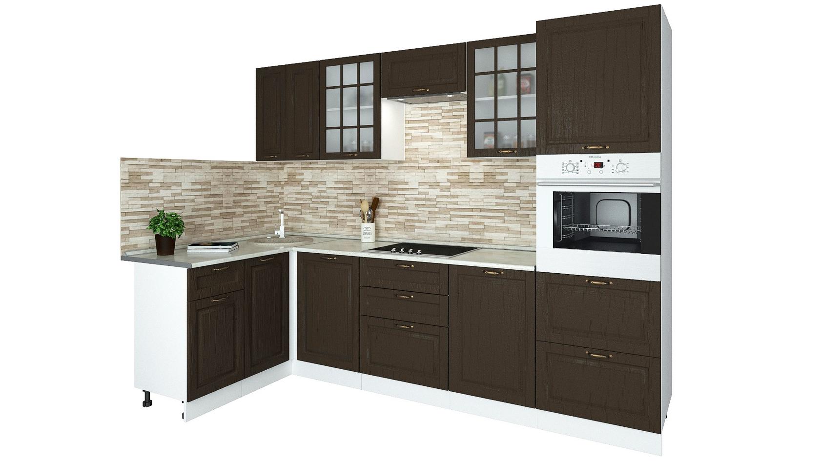 Угловой кухонный гарнитур 179-69084