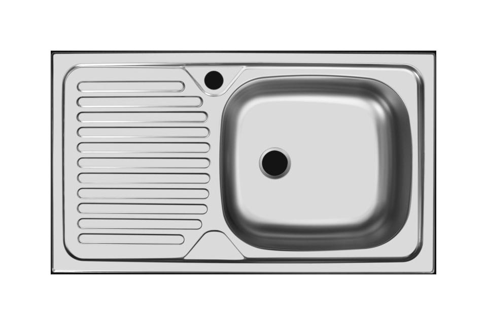 Прямоугольная врезная мойка с длинным крылом 150-74187