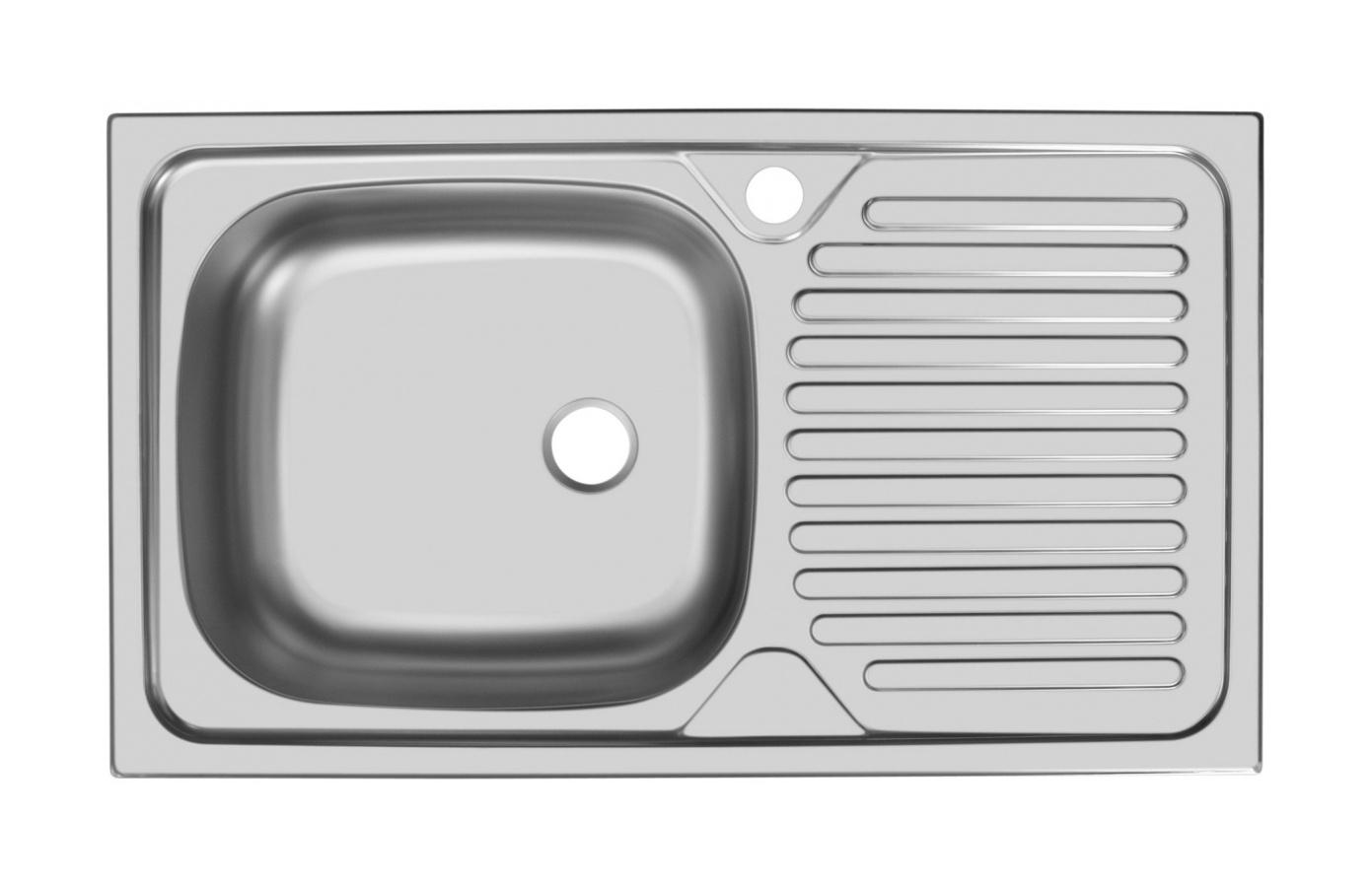 Прямоугольная врезная мойка с длинным крылом 179-74188