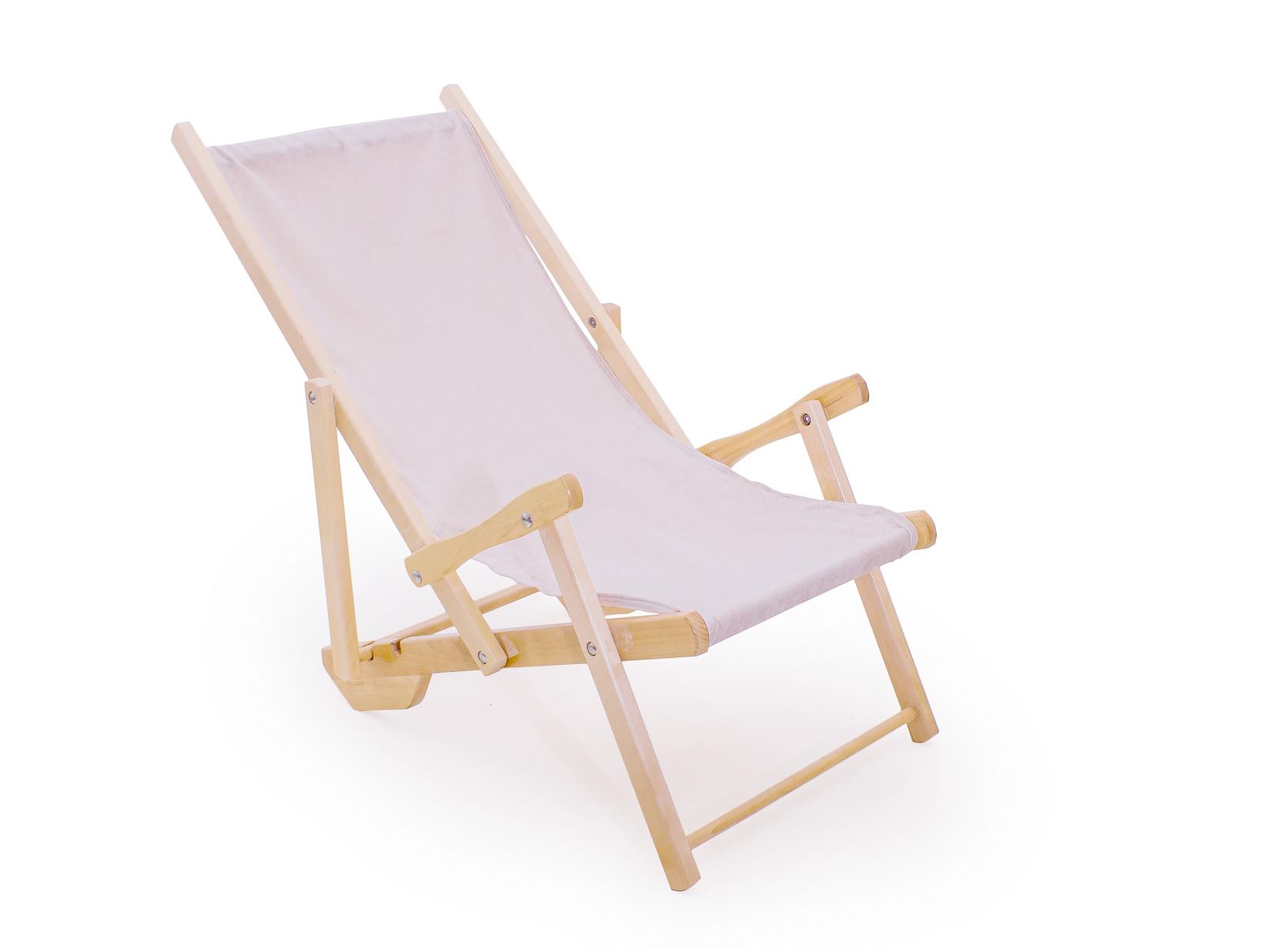 Деревянный лежак для пляжа 150-53328