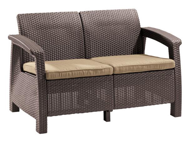 Плетеный диван из искусственного ротанга 151-16668