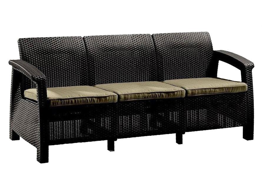 Плетеный диван на дачу 105-16670