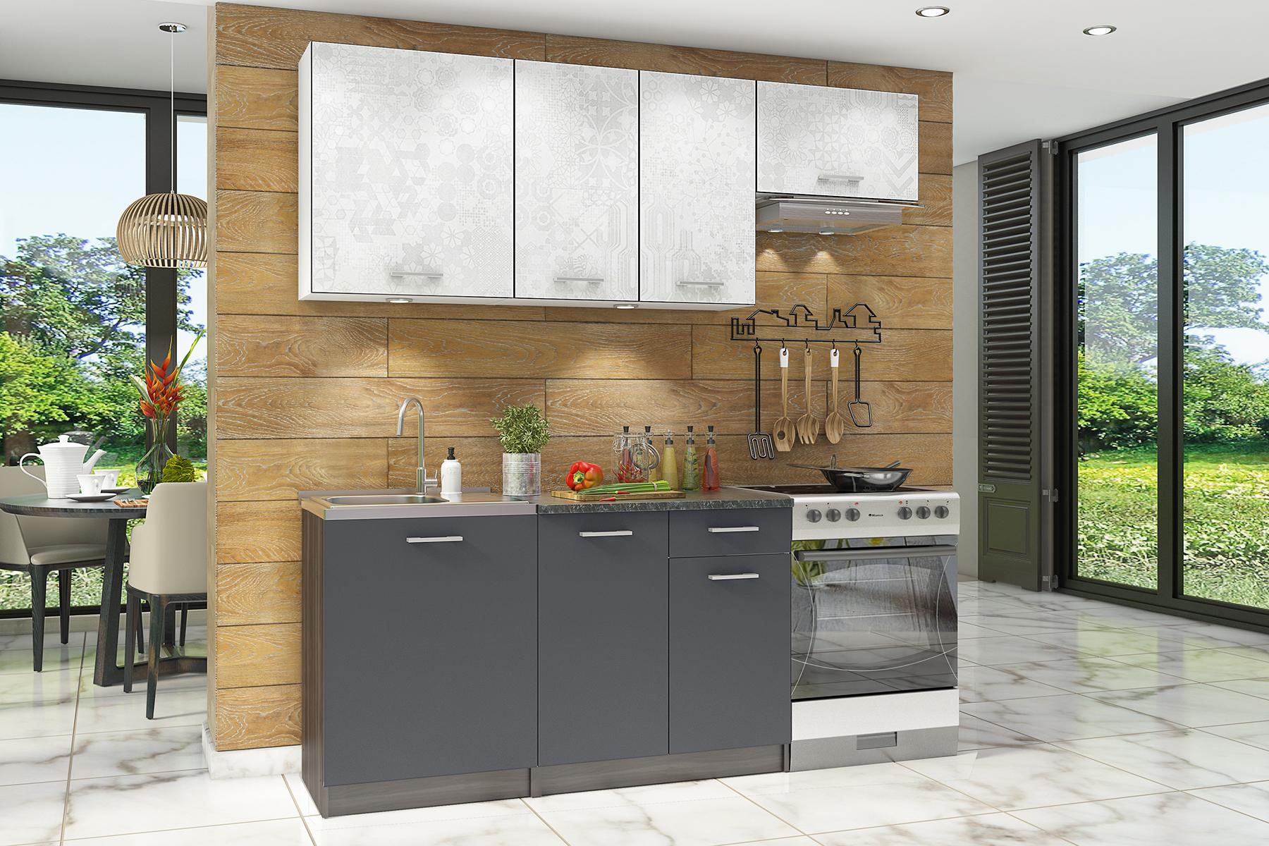 Прямой кухонный гарнитур 150-74496