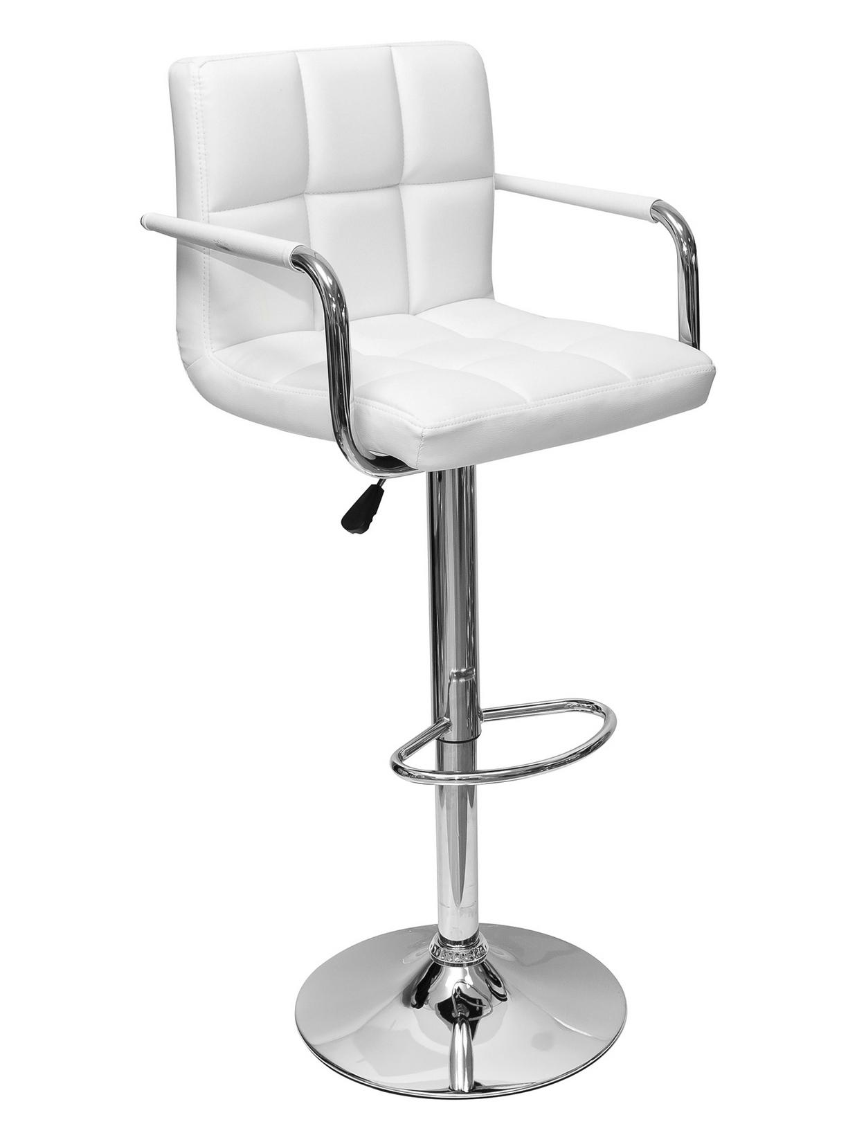 Кожаный барный стул с подлокотниками 160-51462