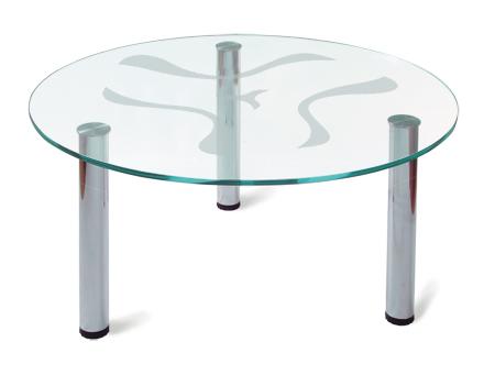 Круглый журнальный столик стеклянный 149-1465